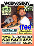 SalsaClass.co.uk - Wednesdays at the Urban Bar (E1 1BJ)